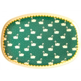 RICE Rectangular Plate SWANS khaki