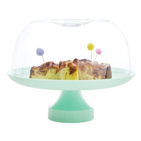 RICE Cake Stand and Dome GREEN