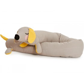 Roommate Soft Toy LAZY LONG DOG grey