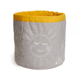 Roommate Storage Basket Hello Sunshine MEDIUM grey
