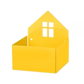 Roommate box shelf HOUSE yellow