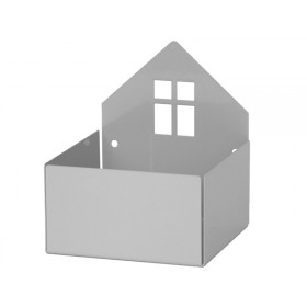 Roommate box shelf HOUSE grey