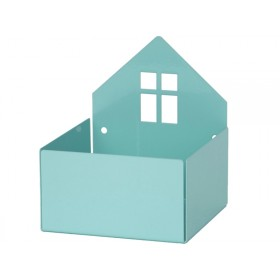 Roommate box shelf HOUSE pastel blue