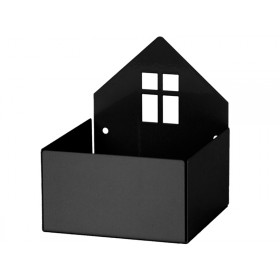 Roommate box shelf HOUSE black