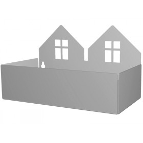 Roommate box shelf TWIN HOUSE grey