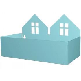 Roommate box shelf TWIN HOUSE pastel blue