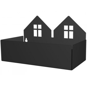 Roommate box shelf TWIN HOUSE black