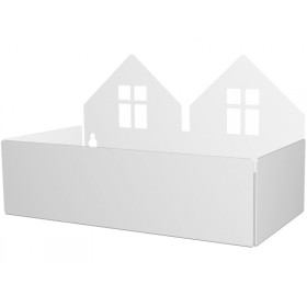 Roommate box shelf TWIN HOUSE white