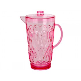 RICE jug in swirly embossed pink acrylic