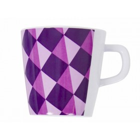 Melamine cup with purple pattern by Sebra