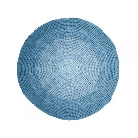 Sebra crochet floor mat gradient blue
