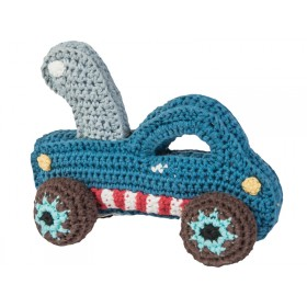 Sebra crochet rattle towtruck