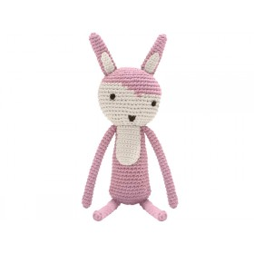 Sebra crochet rabbit vintage rose