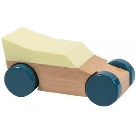Sebra wooden race car yellow