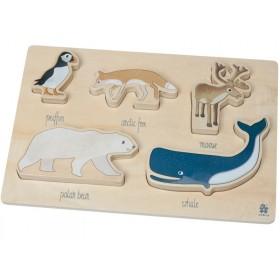 Sebra wooden chunky puzzle ARCTIC ANIMALS