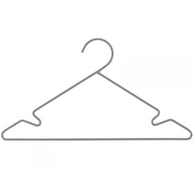Sebra metal hanger set grey