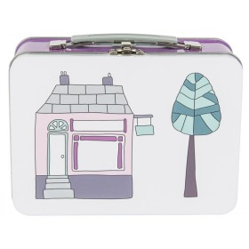 Sebra metal lunchbox village girl