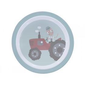 Sebra melamine plate farm boy