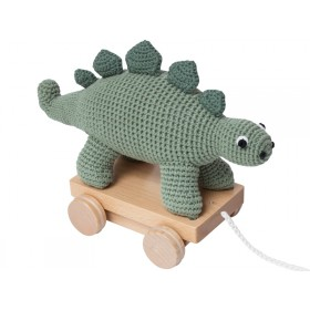 Sebra crochet pull-along toy DINO