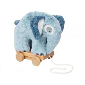 Sebra plush pull-along toy elephant cloud blue