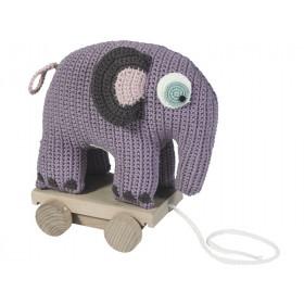 Sebra elephant on wheels pastel lilac