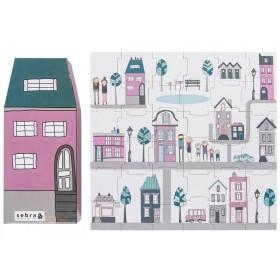 Sebra puzzle village girl