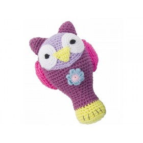 Crochet rattle Owl by Sebra