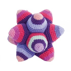 Crochet rattle star in purple by Sebra