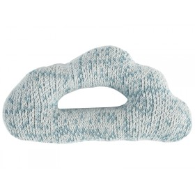 Sebra: Knitted Rattle - Cloud light blue