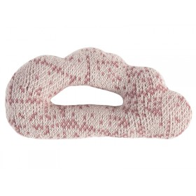 Sebra: Knitted Rattle - Cloud vintage rose
