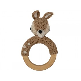 Sebra crochet rattle deer on ring