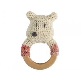 Sebra: Crochet Rattle Ring - Polarbear