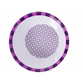 Melamine bowl with purple pattern by Sebra