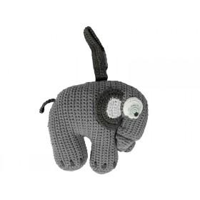 Sebra musical clock elephant grey