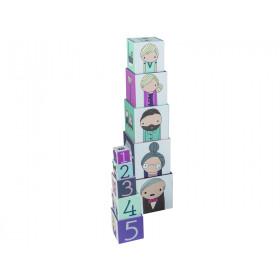 Sebra stacking blocks with village print