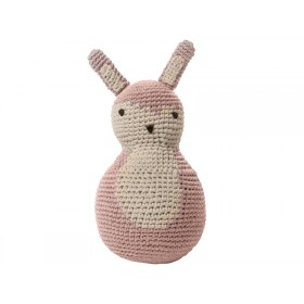 Sebra tilting toy rabbit pastel pink