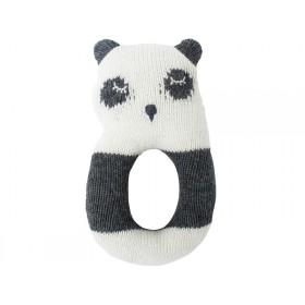 Sebra knitted rattle PANDA