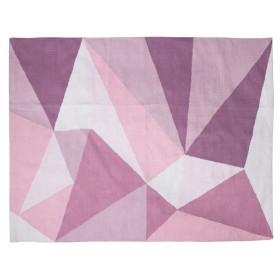 Sebra woven floor mat pastel pink
