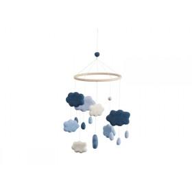 Sebra baby mobile clouds royal blue