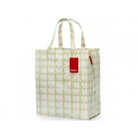 Engel Shopper large ELEPHANTS green