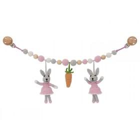 Sindibaba Stroller Chain Bunny BIBI pink
