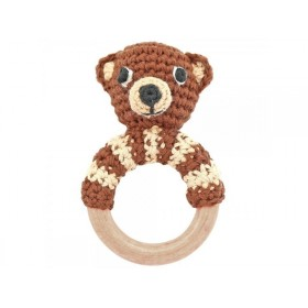 Sindibaba Rattle Ring BEAR brown