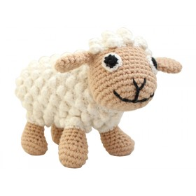 Sindibaba Crochet Cuddly Toy Rattle SHEEP