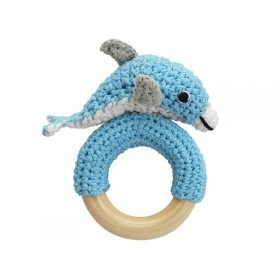Sindibaba Rattle Ring DOLPHIN BLUE