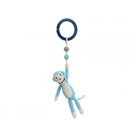 Sindibaba Crochet Pram Clip MONKEY BLUE (LINK)