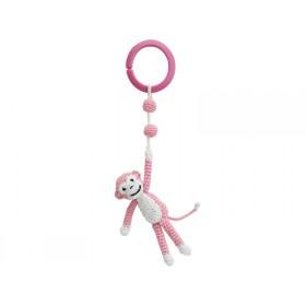 Sindibaba Crochet Pram Clip MONKEY PINK (LINK)