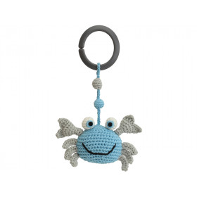 Sindibaba Crochet Pram Clip CRAB BLUE-GREY