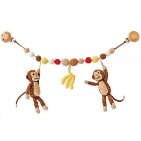 Sindibaba stroller chain monkeys bananas