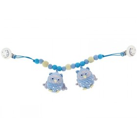 Sindibaba stroller chain owls light blue