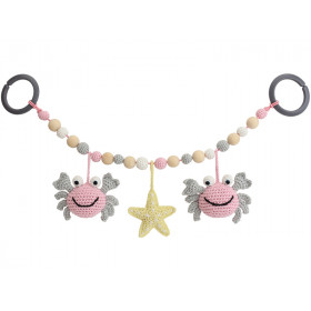 Sindibaba stroller chain CRAB ROSE-GREY (LINK)